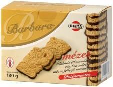 Barbara Gluténmentes Mézes Étcsokoládés (180g)