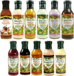 Walden Farms Mézes-Mustáros Salad Dressings (355ml)