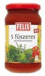 FELIX 5 Fűszeres Paradicsomszósz (360g)