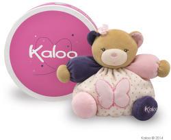 Kaloo Petite Rose Chubby Bear Butterfly - Ursulet roz din plus moale in cutie de cadou 18cm