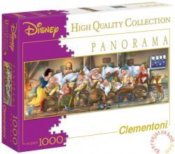 Clementoni Panoráma puzzle - Hófehérke és a hét törpe 1000 db-os (39004)