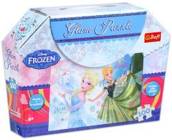 Trefl Glam Puzzle - Disney Jégvarázs: Anna és Elsa 100 db-os csillámos puzzle (14811)