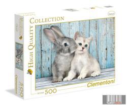 Clementoni Nyuszi és cica 500 db-os (35004)