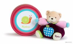 Kaloo Colors Chubby Bear Apple - Ursulet din plus moale in ambalaj cadou 18cm