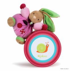Kaloo Colors Chubby Rabbit Cherry - Iepuras din plus moale in ambalaj cadou 18cm