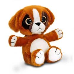 Keel Toys Sparkle Eyes - Catel Boxer cu ochi stralucitori 20cm