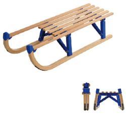 Összecsukható fa szánkó, 100 cm VT-SPORT - pontezaz