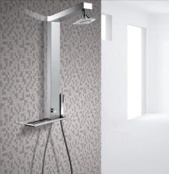 Drop Gemma Square olasz zuhanypanel, szögletes esőztetős zuhanyfejjel (GEMQN)