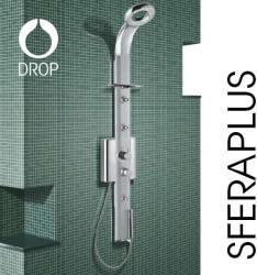 Drop Sfera Plus olasz hidromasszázs zuhanypanel, termosztátos csapteleppel (HTECHPLSG2)