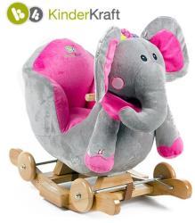 KinderKraft Balansoar 2 in 1 cu roti si sunete - Elefant (KRAFT-812)