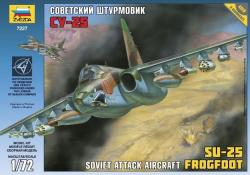 Zvezda Soviet Attack Aircraft SU-25 Frogfoot 1/72 7227