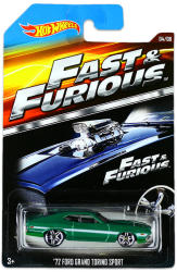 Mattel Hot Wheels - Halálos iramban kisautók - 72 Ford Grand Torino Sport