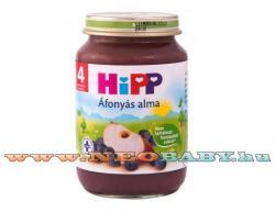 HiPP Áfonyás alma bébiétel 4 hónapos kortól - 190g