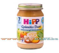 HiPP Gyümölcs Duett: Alma-mangó túrókrémmel 7 hónapos kortól - 160g