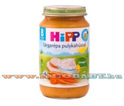 HiPP Sárgarépa pulykahússal 8 hónapos kortól - 220g