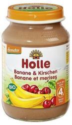 Holle Bio banán cseresznyével 4 hónapos kortól - 190g
