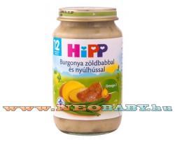 HiPP Burgonya zöldbabbal és nyúlhússal 12 hónapos kortól - 220g