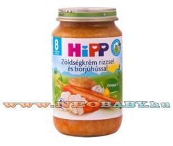 HiPP Zöldségkrém rizzsel és borjúhússal 8 hónapos kortól - 220g