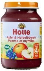 Holle Bio alma-fekete áfonya bébiétel 4 hónapos kortól - 190g