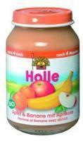 Holle Bio alma-banán-sárgabarack bébiétel 6 hónapos kortól - 190g