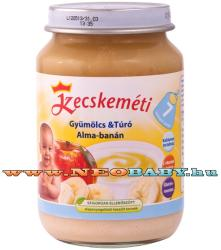 Kecskeméti Gyümölcs & Túró - Alma-banán bébiétel 7 hónapos kortól - 190g