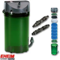 EHEIM Classic 600 - szivacs töltettel, dupla csappal