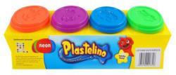 Plastelino 4 db-os neonszínű gyurma