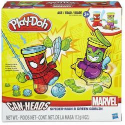 Hasbro Play-Doh Can-Heads - Marvel: Pókember és Zöld manó tégelyfej gyurmafigura készlet