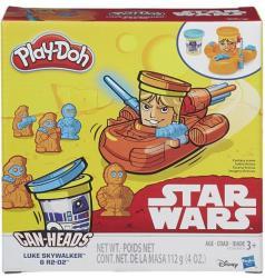 Hasbro Play-Doh Can-Heads - Star Wars: Luke Skywalker és R2-D2 tégelyfej gyurmafigura készlet