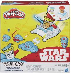Hasbro Play-Doh Can-Heads - Star Wars: Luke Skywalker és Snowtrooper tégelyfej gyurmafigura készlet