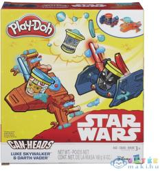 Hasbro Play-Doh Can-Heads - Star Wars: Luke Skywalker és Darth Vader tégelyfej gyurmafigura készlet