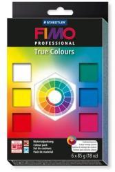 FIMO Professional True Colours égethető gyurma készlet - 6x85g (FM800301P)