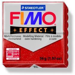 FIMO Effect égethető gyurma - Csillámos piros - 56g (FM8020202)