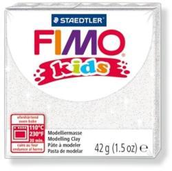 FIMO Kids égethető gyurma - Glitteres fehér - 42g (FM8030052)