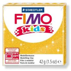 FIMO Kids égethető gyurma - Glitteres arany - 42g (FM8030112)