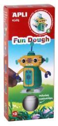 APLI Fun Dough: Sétáló robot - citromsárga-zöld gyurma (LCA13985)