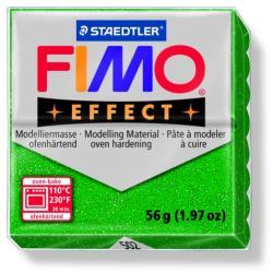 FIMO Effect égethető gyurma - Csillámos zöld - 56g (FM8020502)