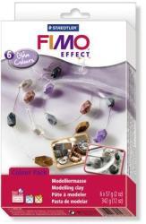 FIMO Soft Material Pack égethető gyurma készlet - Fényes színek - 6x57g (FM802306)
