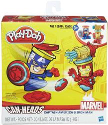 Hasbro Play-Doh: Can-Heads - Marvel: Vasember és Amerika Kapitány tégelyfej gyurmafigura készlet