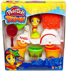 Hasbro Play-Doh: Town - Pizzafutár gyurmakészlet (B5976)