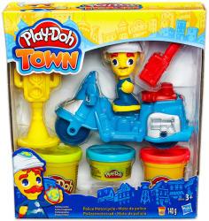 Hasbro Play-Doh: Town - Motoros rendőr gyurmakészlet (B5975)