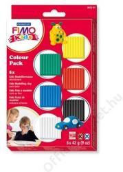 FIMO Kids Color Pack égethető gyurma készlet - 6 alapszín - 6x42g (FM803201)