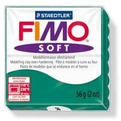 FIMO Soft égethető gyurma - Smaragdzöld - 56g (FM802056)