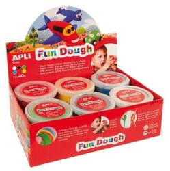 APLI Fun Dough gyurma display - Alap színek - 480g (LCA13450)