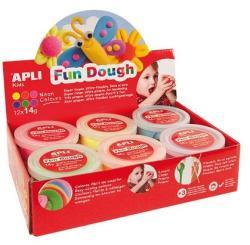 APLI Fun Dough gyurma display - Különleges színek - 168g (LCA13452)