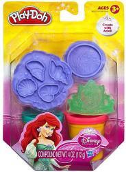 Hasbro Play-Doh - Disney Hercegnők: Ariel ragyogó gyurmakészlet