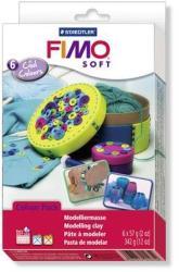 FIMO Soft Material Pack égethető gyurma készlet - Hideg színek - 6x57g (FM802304)