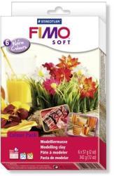 FIMO Soft Material Pack égethető gyurma készlet - Meleg színek - 6x57g (FM802303)