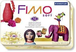 FIMO Soft Nostalgia égethető gyurma készlet fém dobozban - Vegyes színek - 12x57g (FM802351)