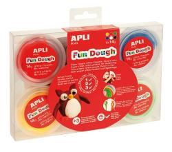 APLI Fun Dough gyurma display - Alap színek - 84g